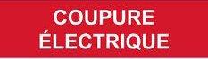 coupure électrique