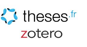 Logos theses.fr et zotero