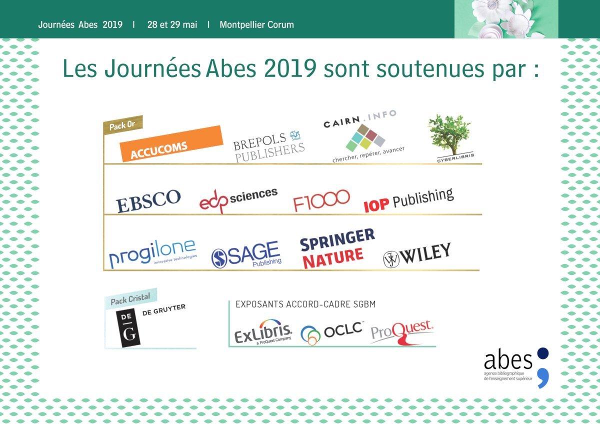 Sponsors Journées Abes 2019